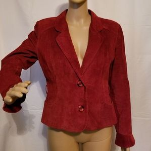The leather loft vintage jacket made in Canada red